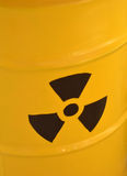 Radioactive yellow barrel of waste detail photography Stock Image