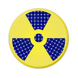 Radioactive yellow sign Royalty Free Stock Photography