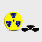 Radioactive yellow sign Stock Photo