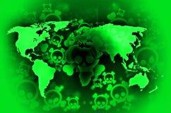Radioactividade da guerra de mundo Ilustração do Vetor