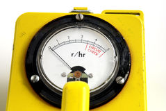 Radioactivity. Stock pictures of a geiger counter used to detect traces of nuclear radiation Stock Image