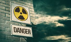 Free Radioactivity And Chemical Hazard Street Sign With Toxic Clouds Stock Images - 130263014