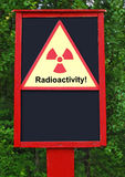 Radioactivity board Stock Images