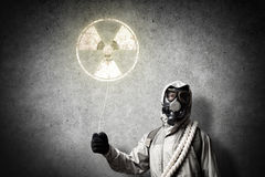 Radioactivity catastrophe Royalty Free Stock Images