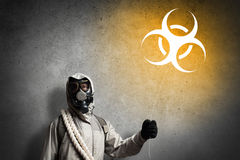 Radioactivity catastrophe Stock Images