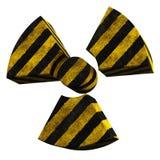 Radioactivity logo stripe painted concrete. 3D rendering of radioactivity logo made of stripe painted concrete Stock Photo