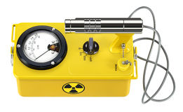 Radioactivity meter. People, animals, object, food, etc... hand-held device for measuring radioactivity. The recently produced, today is used analog meter Royalty Free Stock Image