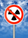 Radioactivity sign Stock Images