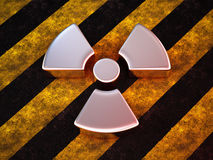 Radioactivity sign Royalty Free Stock Photography