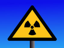Radioactivity sign Royalty Free Stock Photo