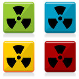 Radioactivity sign buttons Royalty Free Stock Photos