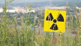 Radioactivity Sign stock video footage