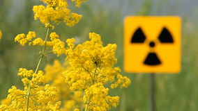 Radioactivity Sign stock video