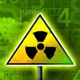 Radioactivity sign numbers. Radioactivity green yelloew sign illustration royalty free illustration