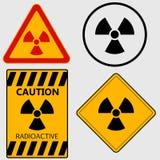 Radioactivity sign set - vector Royalty Free Stock Photo