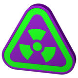 Radioactivity symbol. 3D rendering. Royalty Free Stock Photography