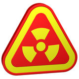 Radioactivity symbol. 3D rendering. Stock Photography