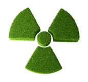 Radioactivity symbol made from grass. Isolated on white background Stock Illustration