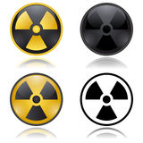 Radioactivity warning signs Royalty Free Stock Photo