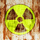 Radioactivity warning symbol Stock Photo