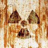 radioactivitysymbolvarning Royaltyfri Foto
