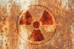 radioactivitysymbolvarning Royaltyfria Foton