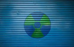 radioactivitysymbolvarning Arkivfoto