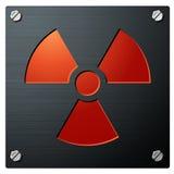 radioactivitytecken Royaltyfri Fotografi