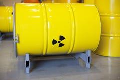 radioaktiv avfalls Fotografering för Bildbyråer