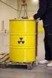 radioaktiv avfalls Arkivfoto