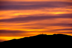 Radioaktiv himmel Arkivfoto