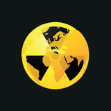 Radioaktiv planetjordsymbol Royaltyfria Bilder