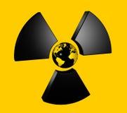 radioaktiv värld för jordklot Royaltyfri Illustrationer
