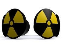 radioaktiva tecken stock illustrationer