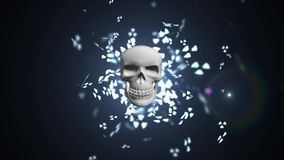 Radioaktive Verschmutzung Gefahr von der Strahlung Porträt des Mannes mit Gasmaske vektor abbildung