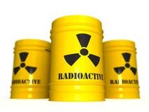 Radioaktiver Abfall 3D Stockfotos
