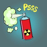 Radioaktives Abgas stock abbildung