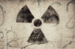 Radioaktives graffit Stockbild