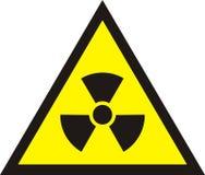 Radioaktives Symbol der radioaktiven Strahlung - unterzeichnen Sie herein gelbe Farbiso Stockfoto