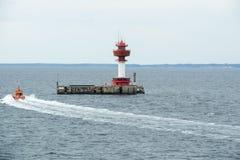 Radioaktivitätsüberwachungsstation Leuchtturm Kiel Stockbilder