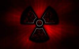 radioaktivt stock illustrationer