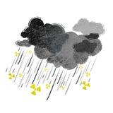 Radioaktivt regn vektor illustrationer