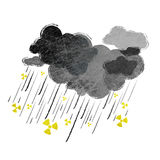 Radioaktivt regn Arkivbild