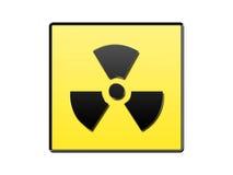 radioaktivt symbol Arkivfoton