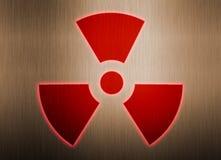 radioaktivt symbol för bakgrundsmetall Royaltyfri Illustrationer