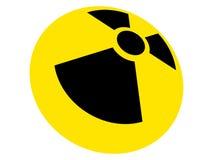 radioaktivt tecken Arkivfoto