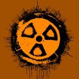 radioaktivt tecken Arkivfoton