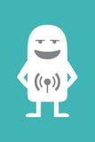 Radioanchorman animato di personalità Fotografie Stock