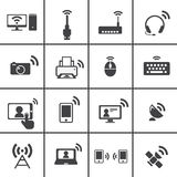 Radioapparat- u. Kommunikationsikone Stockbilder