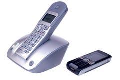 Radioapparat und Handys Stockbild